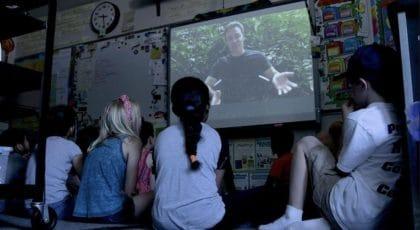 children watching explorer classroom