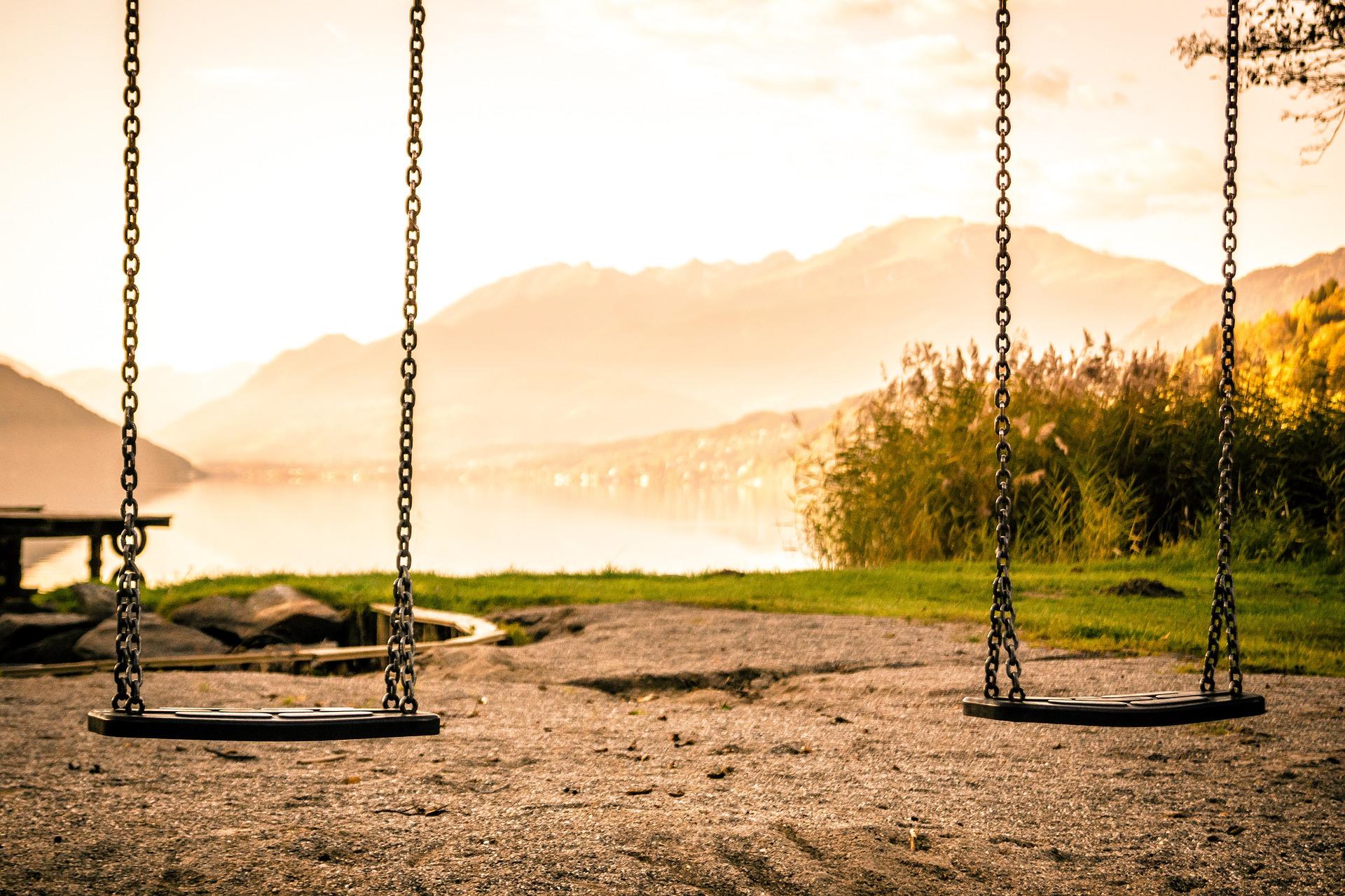 empty swings outside