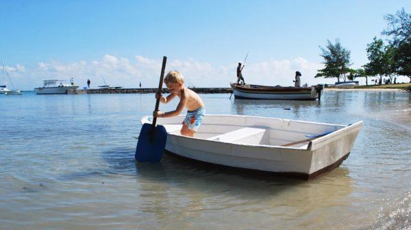 child boating