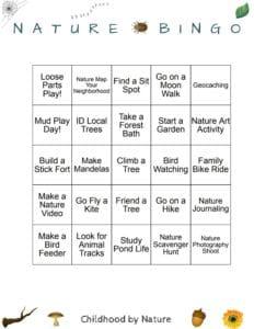 Family Nature Bingo! | Childhood By Nature